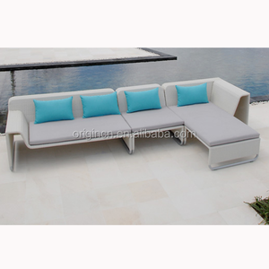 Commercial and Residential light weight outdoor white patio modular sofa set rattan furniture