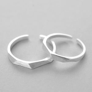 Fashion latest retro finger ring designs Wedding Engagement 925 Sterling Silver section open ring