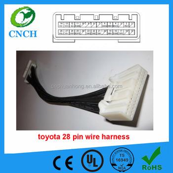 toyo ta 28 pin head unit wire harness adapter