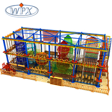 Factory price kids climbing adventure rope course playground