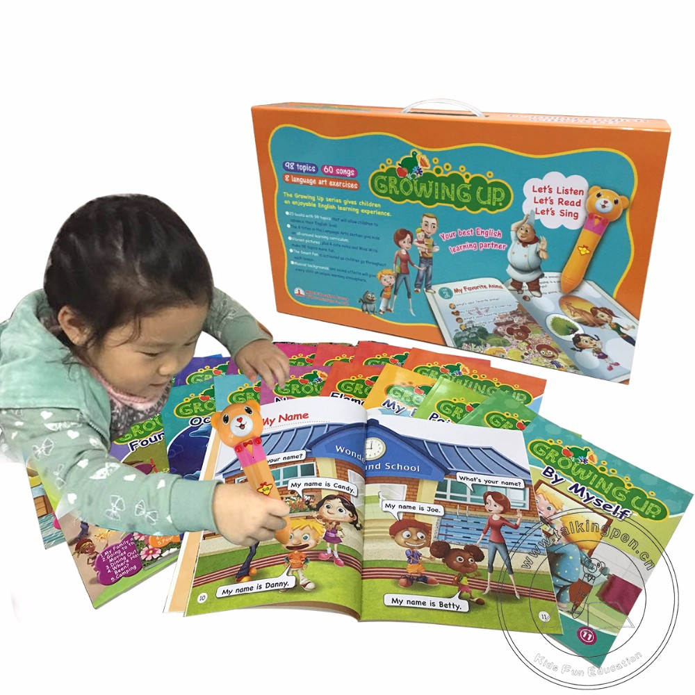 2019 Best Gift Custom Educational Toys <strong>Talking</strong> <strong>Pen</strong> with Child Cartoon Books for Kids Learning English Growing Up