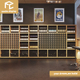Modern wine retail shop interior design with wine bar wooden commercial furnitures