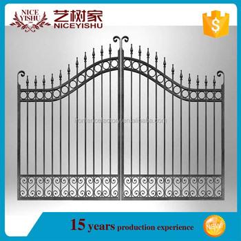 Simple House Main Iron Square Tube Gate Designs/iron Pipe Gate ...