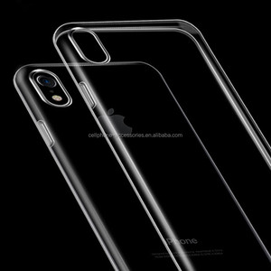 Bulk wholesale cell phone case for iphone 8 plus Slim Transparent Soft TPU For iphone X Cover