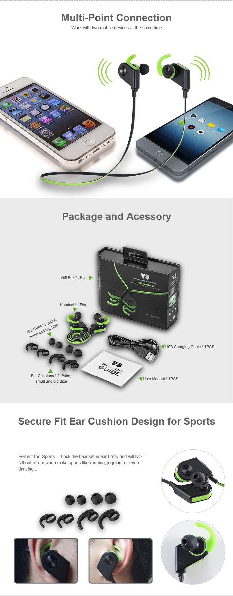 china manufacturers running bluetooth headset with chip. Black Bedroom Furniture Sets. Home Design Ideas