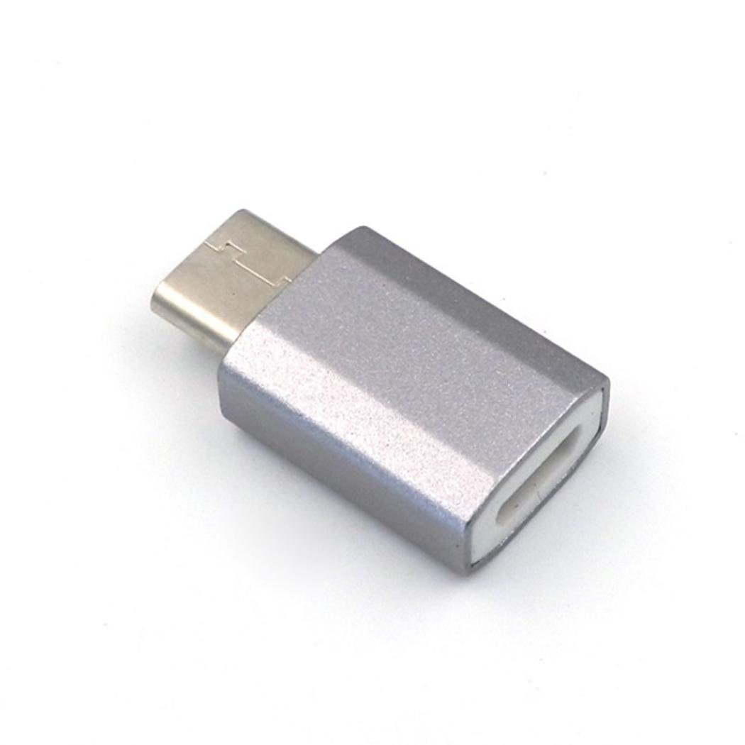 ONEMORES(TM) Micro USB to USB 3.1 Type-C USB Data Adapter for Oneplus 3 (Silver)