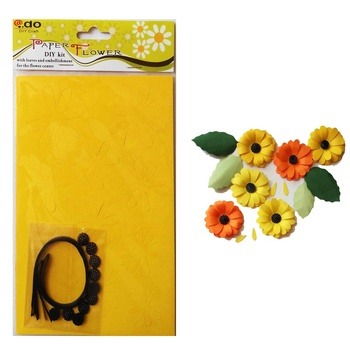 Paper Flower DIY Sunflower Kit Hobby Craft