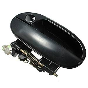 Funnytoday365 Front Left Black Outer Outside Exterior Door Handle For Hyundai Accent 1995-1999
