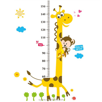 3dgiraffe height chart wall sticker handmade paper decorations baby