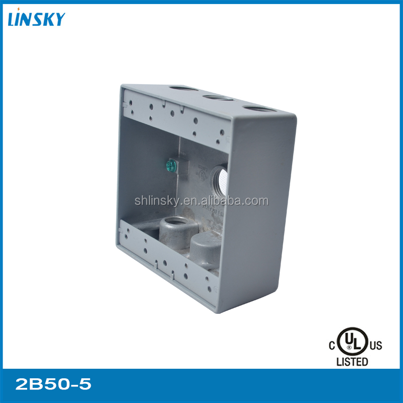 "ul standard 5out let holes 1/2""hole 33.8 inch electrical galvanized metallic utility box"