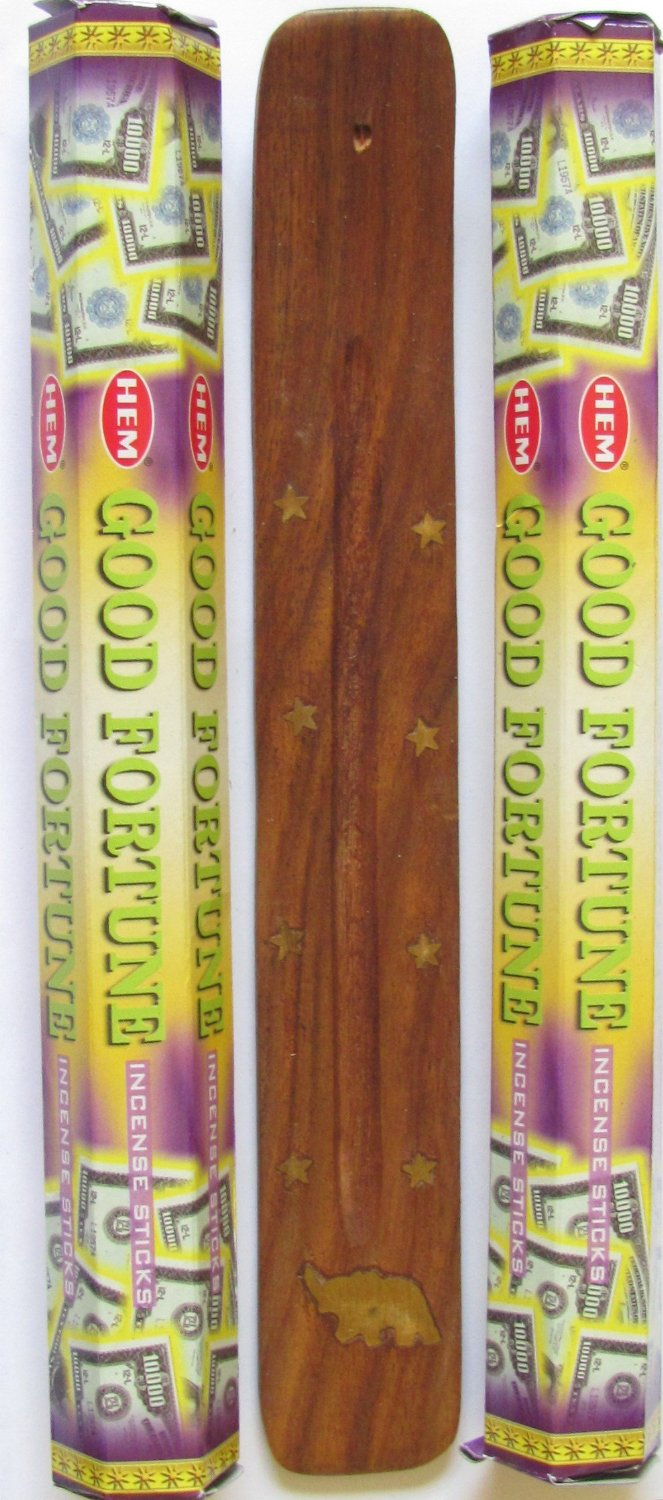Good Fortune 40 Incense Sticks with Free Incense Holder