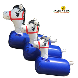 Hot selling inflatable racing horse deby horse with customized size