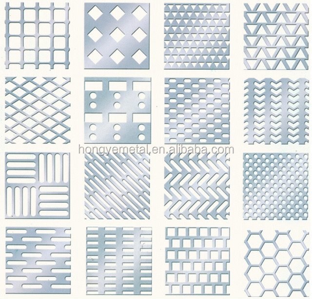 Mild Carbon Perforated Metal Punched Sheets Punching