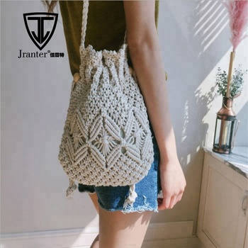 Women Leisure Woven Cotton Tote Bags Designer Shoulder Bags