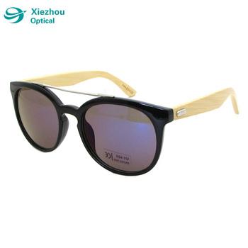 0357c1b130a Fashion trendy Custom round frame vintage retro wood Bamboo sunglasses 2017  women uv400
