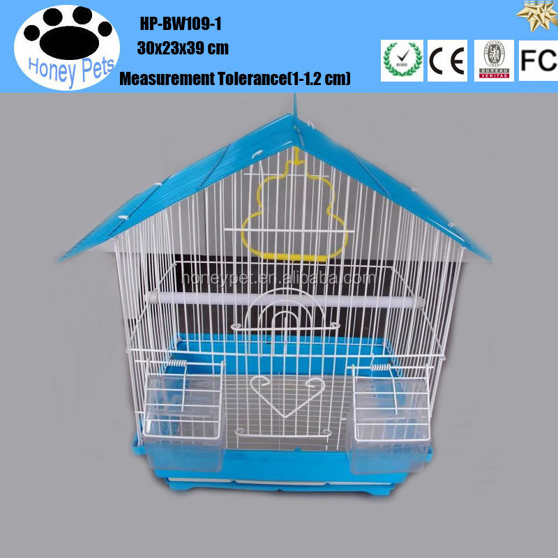 Wholesale metal bottom tray bird cages.