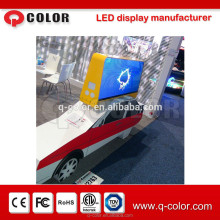 Hd smd impermeable led display taxi signo para la copa del mundo de shenzhen q color
