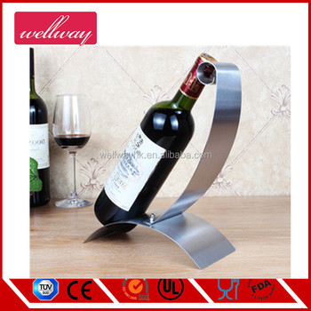 Modern Free Standing Metal Wine Rack For Table Top