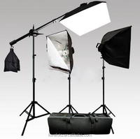 New Photography/fotografia/Photo Studio 100-240V 600W Continuous Lighting Softbox Boom arm Kit