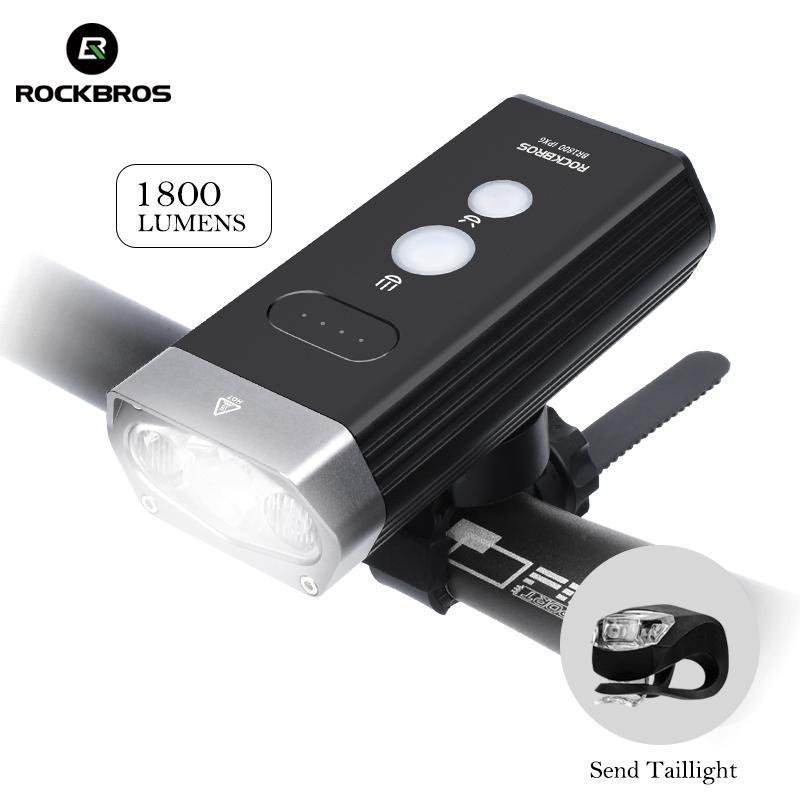 RockBros 800 Lumen Rechargeable Bicycle Head Front Light LED Flashlight Lamp BG