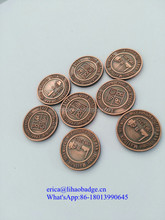 Top sale Custom design wholesale Game token Coin, Metal Coin