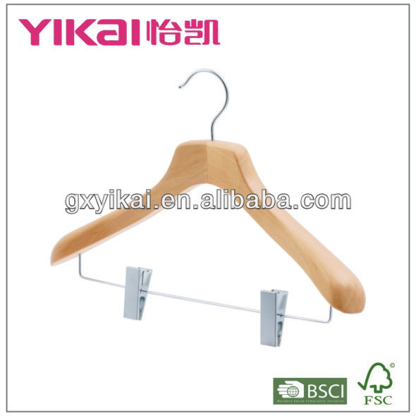 Natural wooden suit cover with hanger made in guangxi with high quality