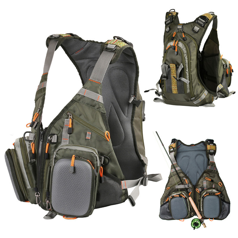 Get Quotations Quality Waterproof Backpack Fishing Bag Multifunctional Outdoor Waist Army Green Tackle Lure Pouch