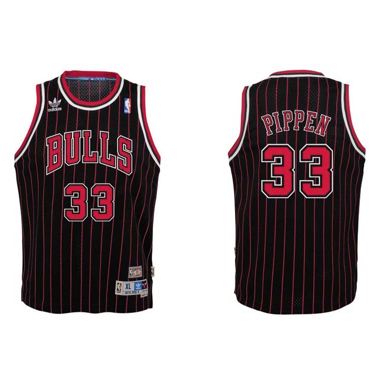 Get Quotations · Scottie Pippen Chicago Bulls Black NBA Youth Hardwood  Classic Swingman Jersey b59989fe9
