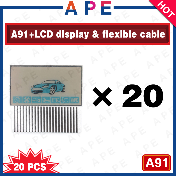 Большое содействие 20 шт. бесплатная доставка A91 жк-дисплей петля для старлайн A91 двусторонний удаленного управления A91 жк-экран гибкий кабель