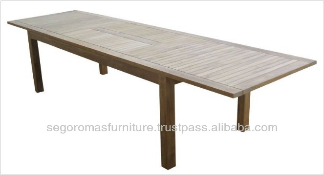 Best Quality Outdoor Garden Natural Teak Extention Oblong Table