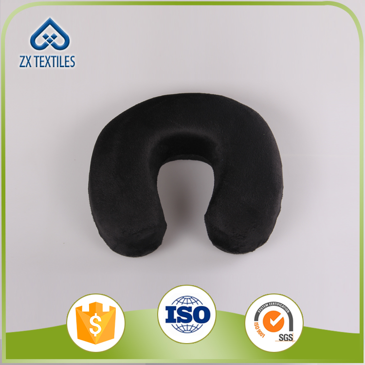 Travel Neck Pillow Soft Velvet U Shape Memory Foam Travel Pillow