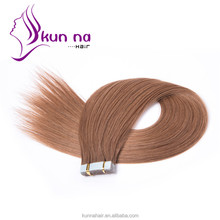 Wholesale tape hair extensions PU skin weft alibaba stock hair extension human