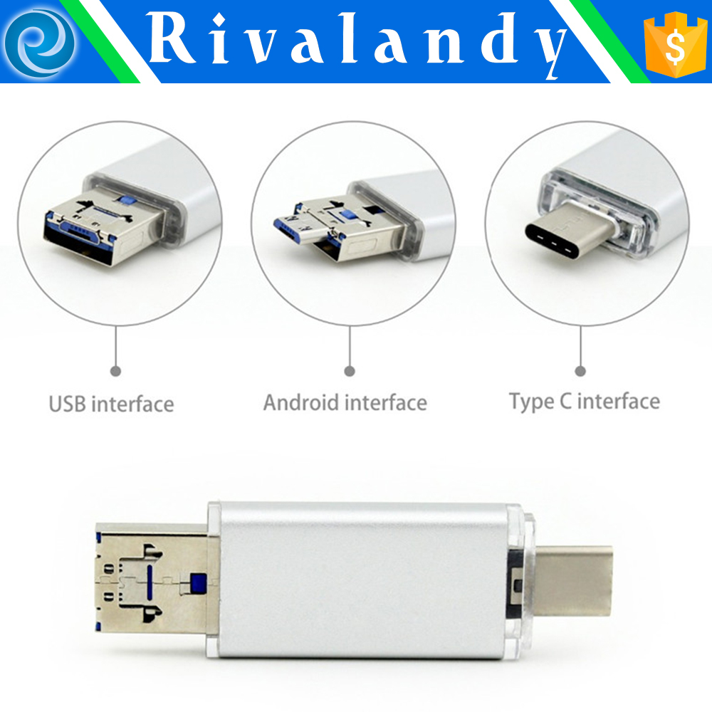High Speed USB 3.0 Card Reader TF i-Flash Memory Mobile Universal Micro USB OTG Card Reader for Phone & PC