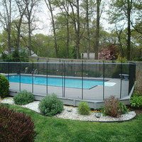 Powder Coated Steel Outdoor Used Pool Fence Temporary Fence Factory Supply