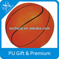 PU foam stress ball soft pu basket ball pu sports stress balls for premium promotional gifts