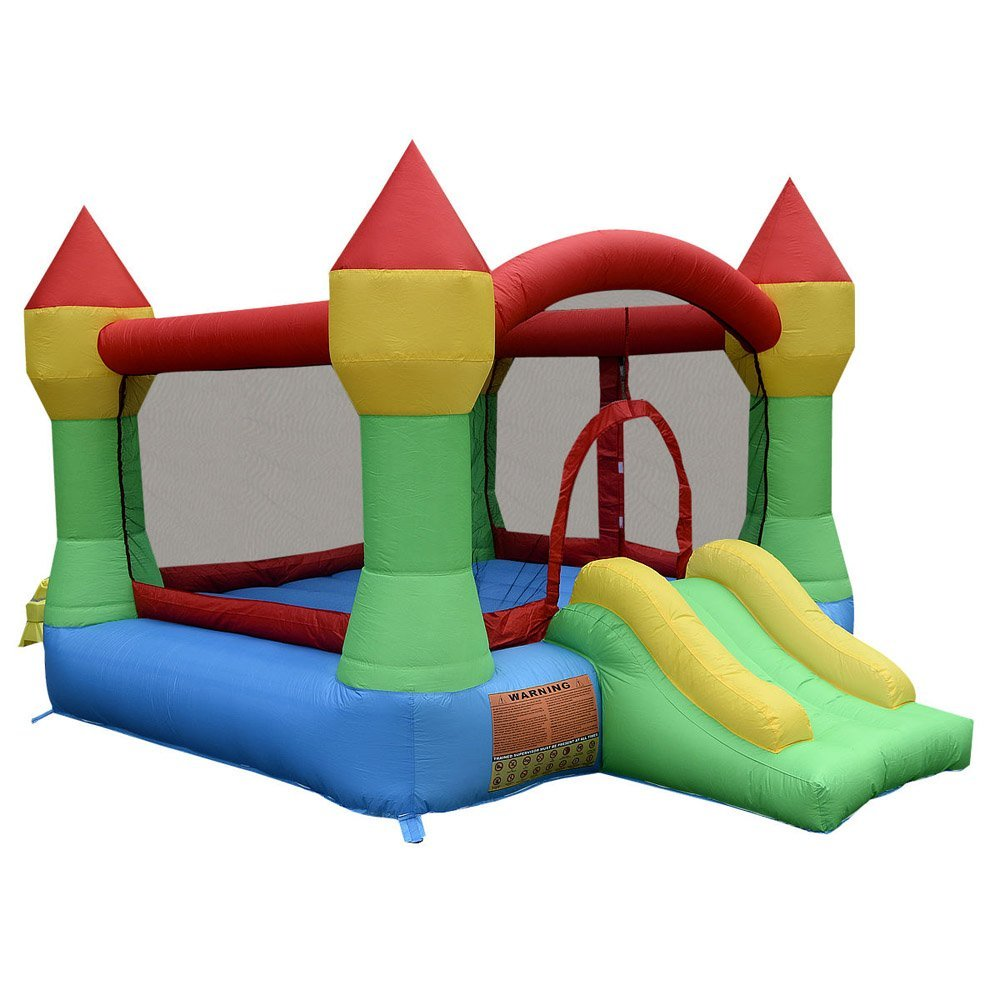 Kissemoji Inflatable Mighty Bounce House Castle Jumper Moonwalk Bouncer