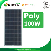 CE TUV 12v 100w solar cell panel with lowest price for home
