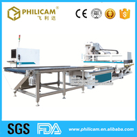 Automatic feeding auto tool changer wooden furniture production line cnc router machines