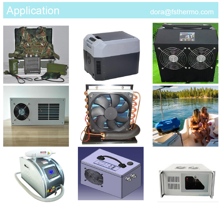 12v 24v Mini Refrigerator Cooling Unit With Miniature