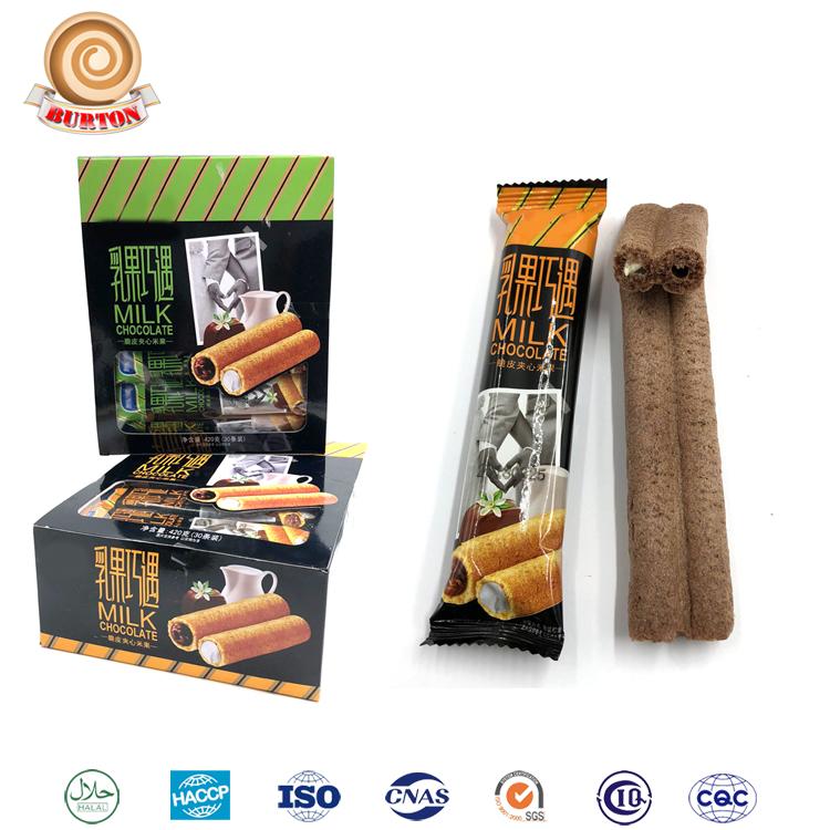 Crème remplissage chocolat bâton blé sandwich biscuit
