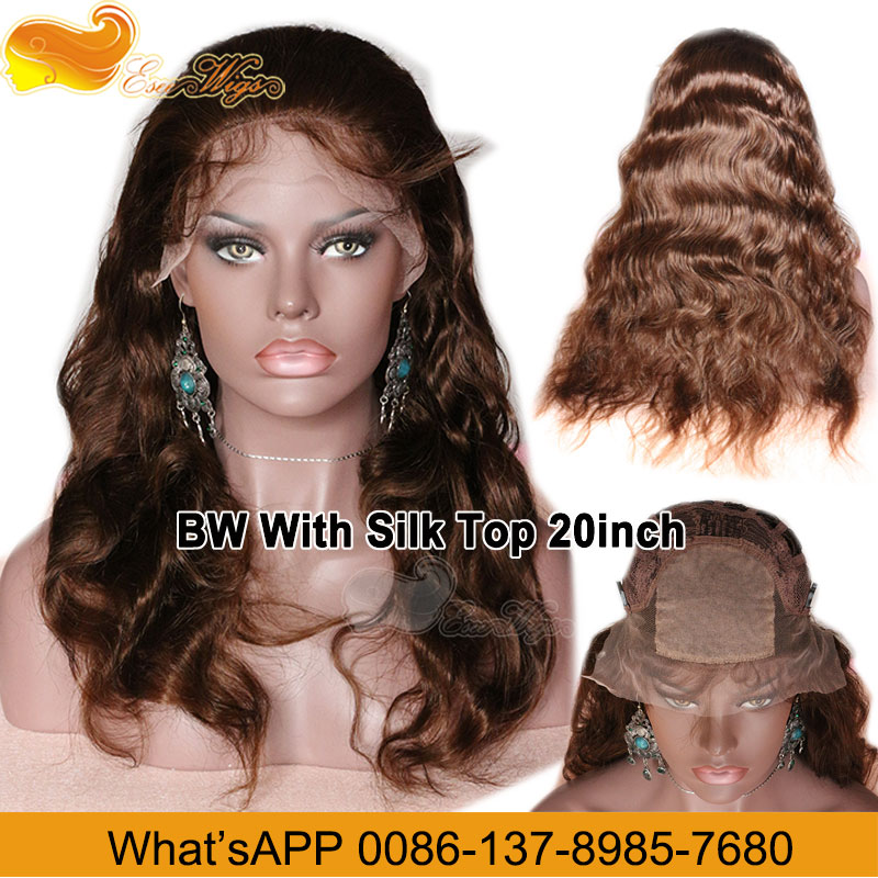 Wholesale Super Quality 100% Human Hair 27A30# Silk Base Wig Cap 8-24Inch In Stock