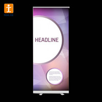 Cheap pull up frontlit flex banner stand size retractable roll up poster banner