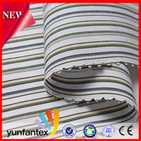 2016 latest fashion High quality yarn dyed fashion shirt cotton poplin stripe fabric for men shirt