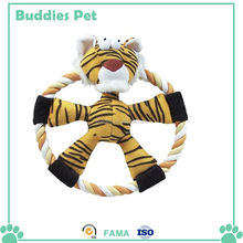 Besting Selling Durable Pet Chew Toy Rope tiger Toys For Dogs