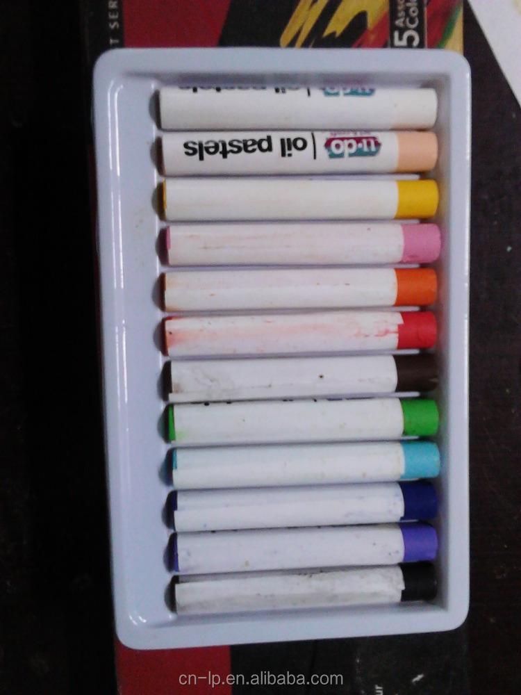 12colour round oil pastel for school