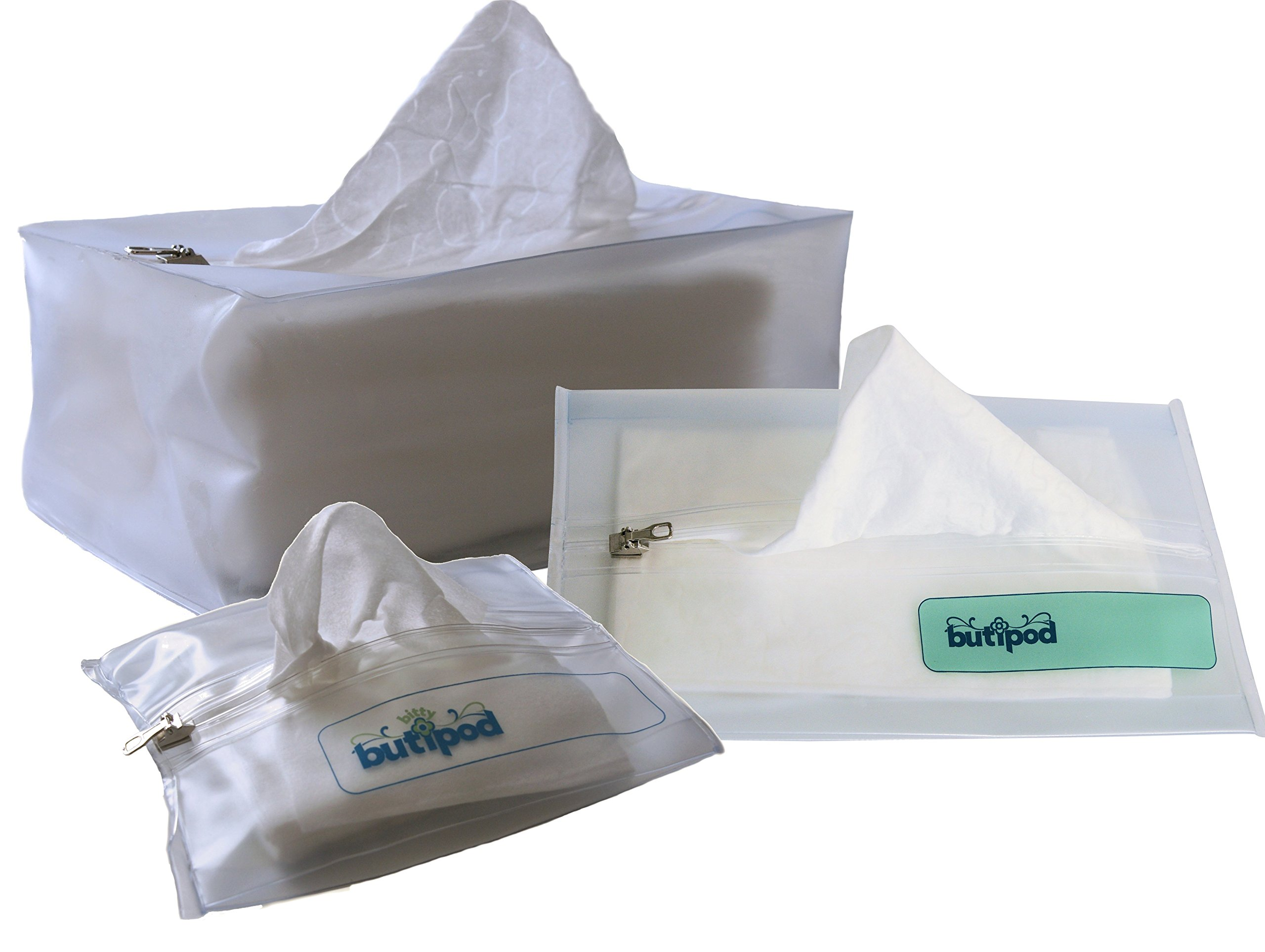 Buti-pods Wipes Travel Case Combo Pack (3-sizes - bitty, original & BIG) VARIETY PACK