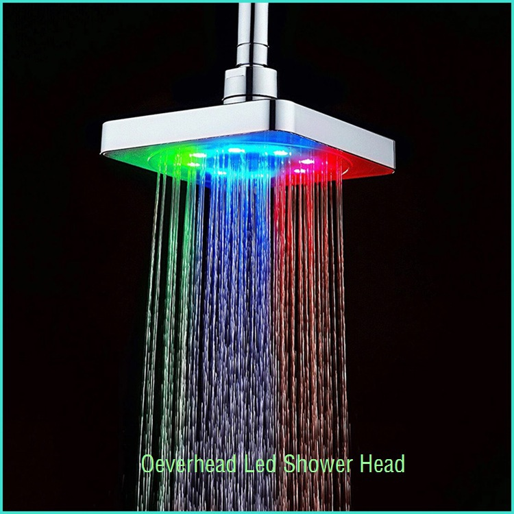 luxurious hot and cold shower valves led meteor light shower