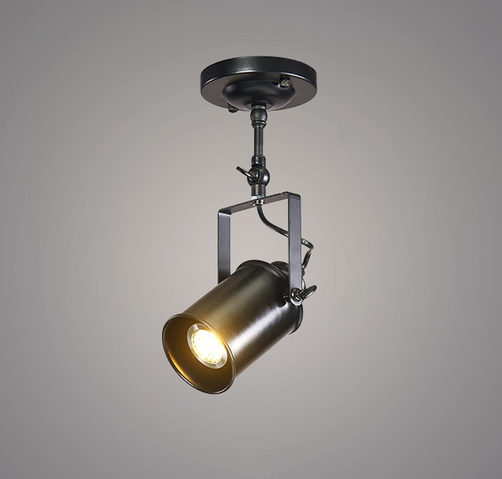 MGSD Spotlight, Retro Creative Personality Of The Industrial Clothing Store Restaurant Bar Guide Rail LED Lights Spotlights Maximum 40W Energy A + A+