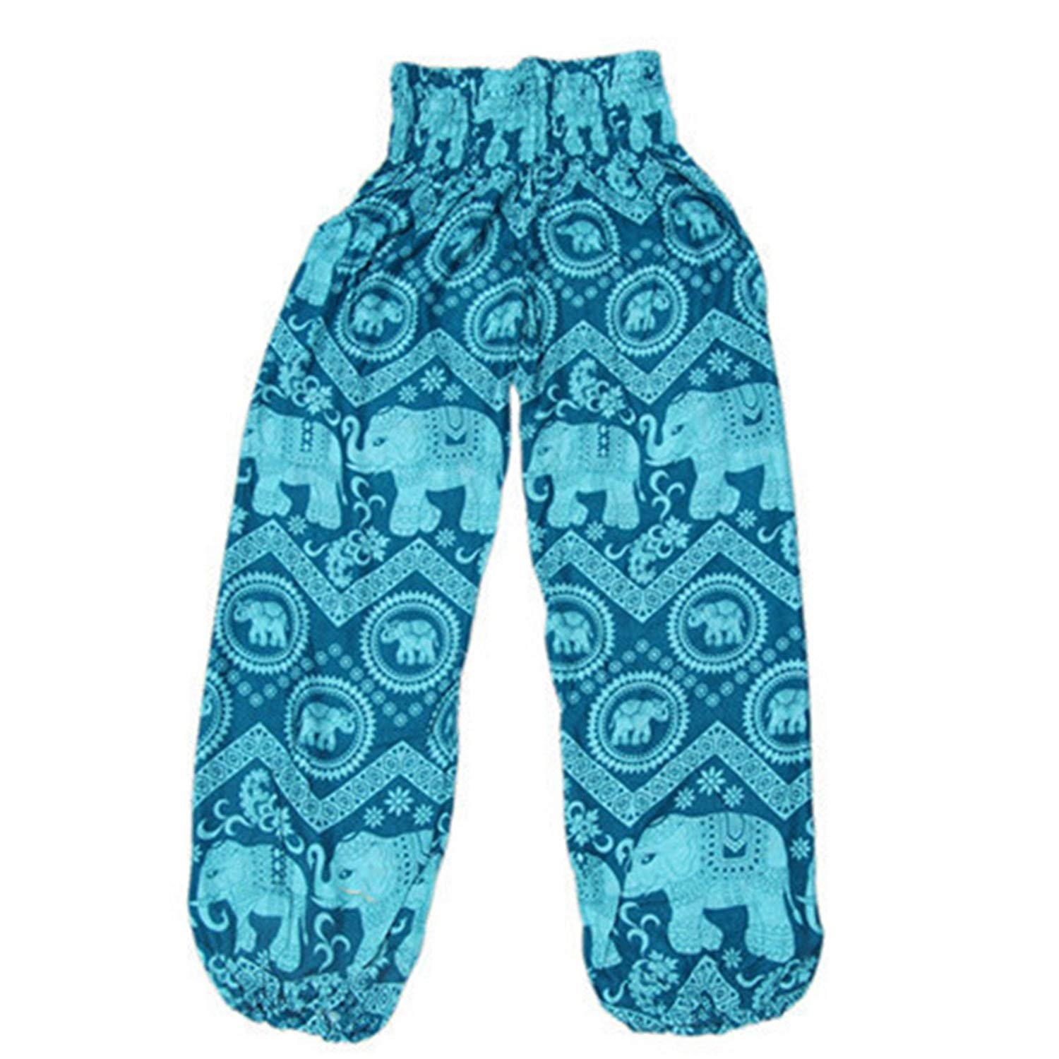 c8f34be0169 Get Quotations · Chiced Yoga Pants India Nepal Elephant Male Female Summer  Loose Poplin Knickerbocker High-Waisted Pants