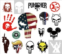 16 pcs The Punisher Stickers Decal MacBook Mac Air Pro Retina Laptop Stickers for Water Bottles for Kids